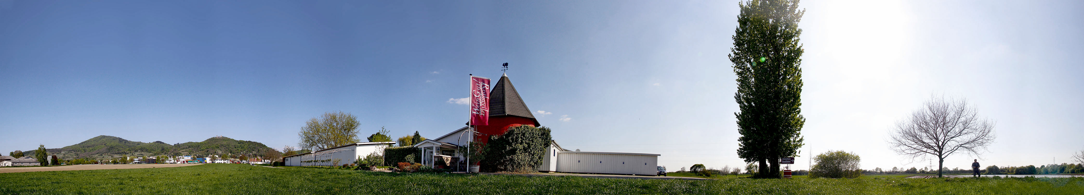 Weingut Rothweiler in Bensheim-Auerbach mit dem roten Turm