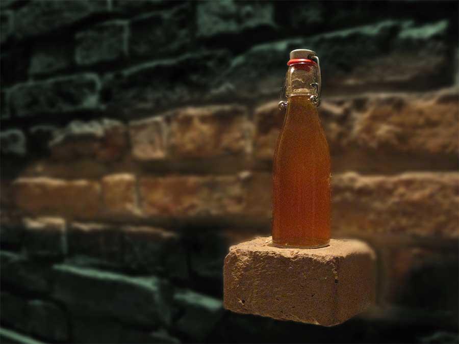Den Holunder-Sirup bewahrt man am besten in Bügelflaschen an dunklen Orten auf