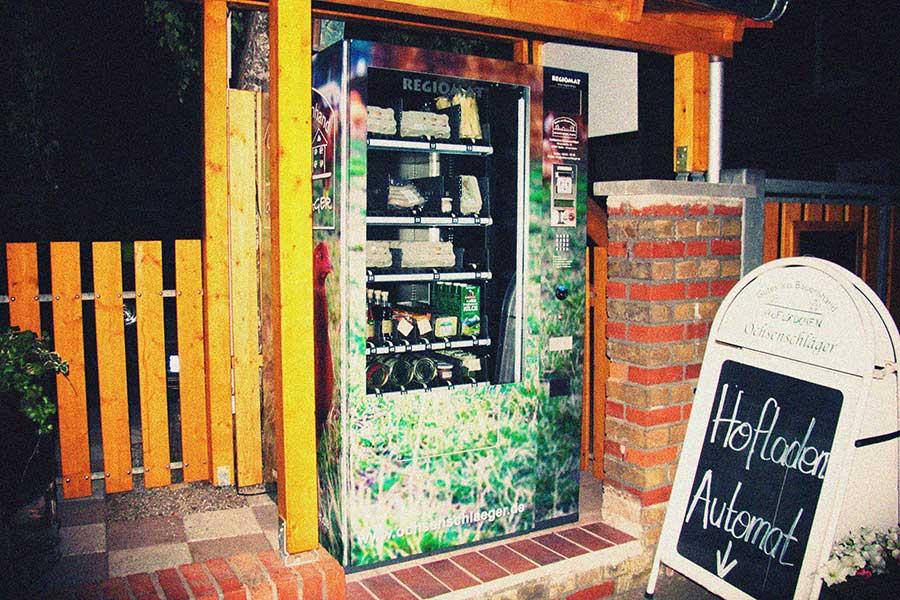 Lebensmittelautomat, Hofladen Ochsenschläger, Biblis-Watteneheim