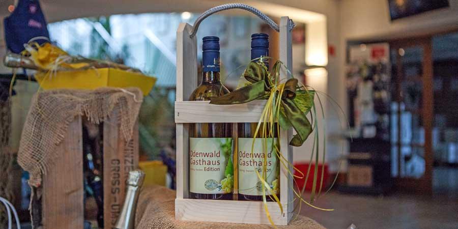 Odenwald_Gasthaus_Wein als Präsent