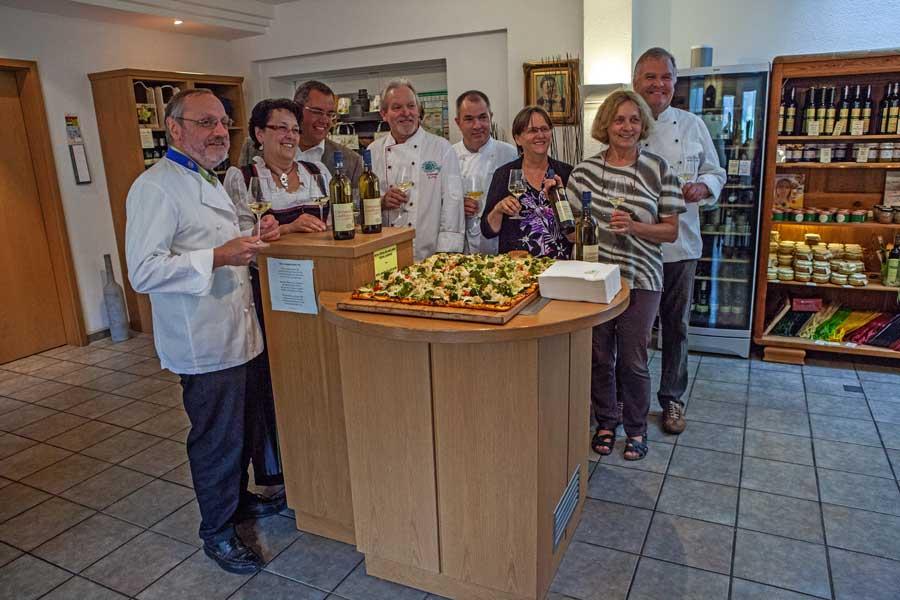 Präsentation des Odenwald Gasthaus Weins in der Vinothek der Odenwälder Winzergenossenschaft