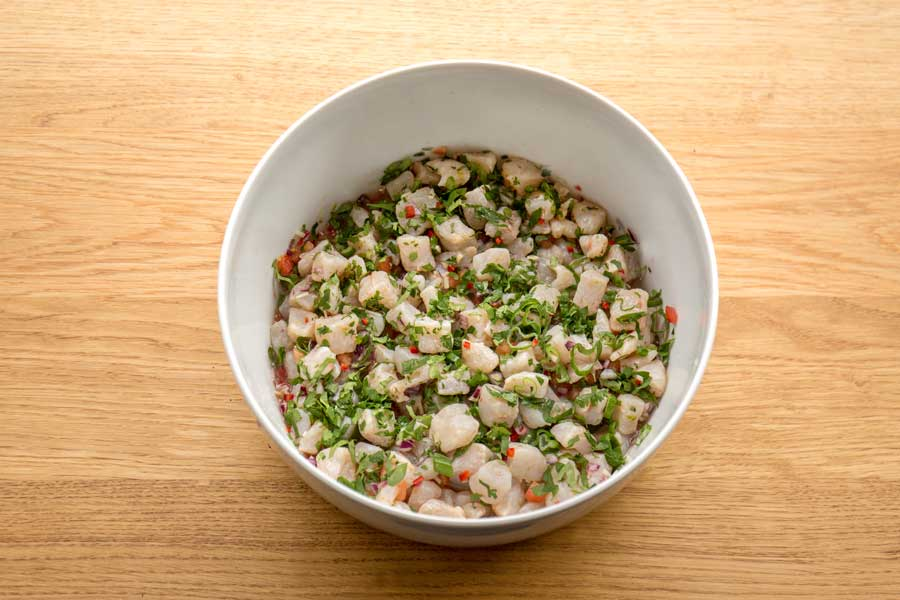Ceviche vom Odenwald-Saibling