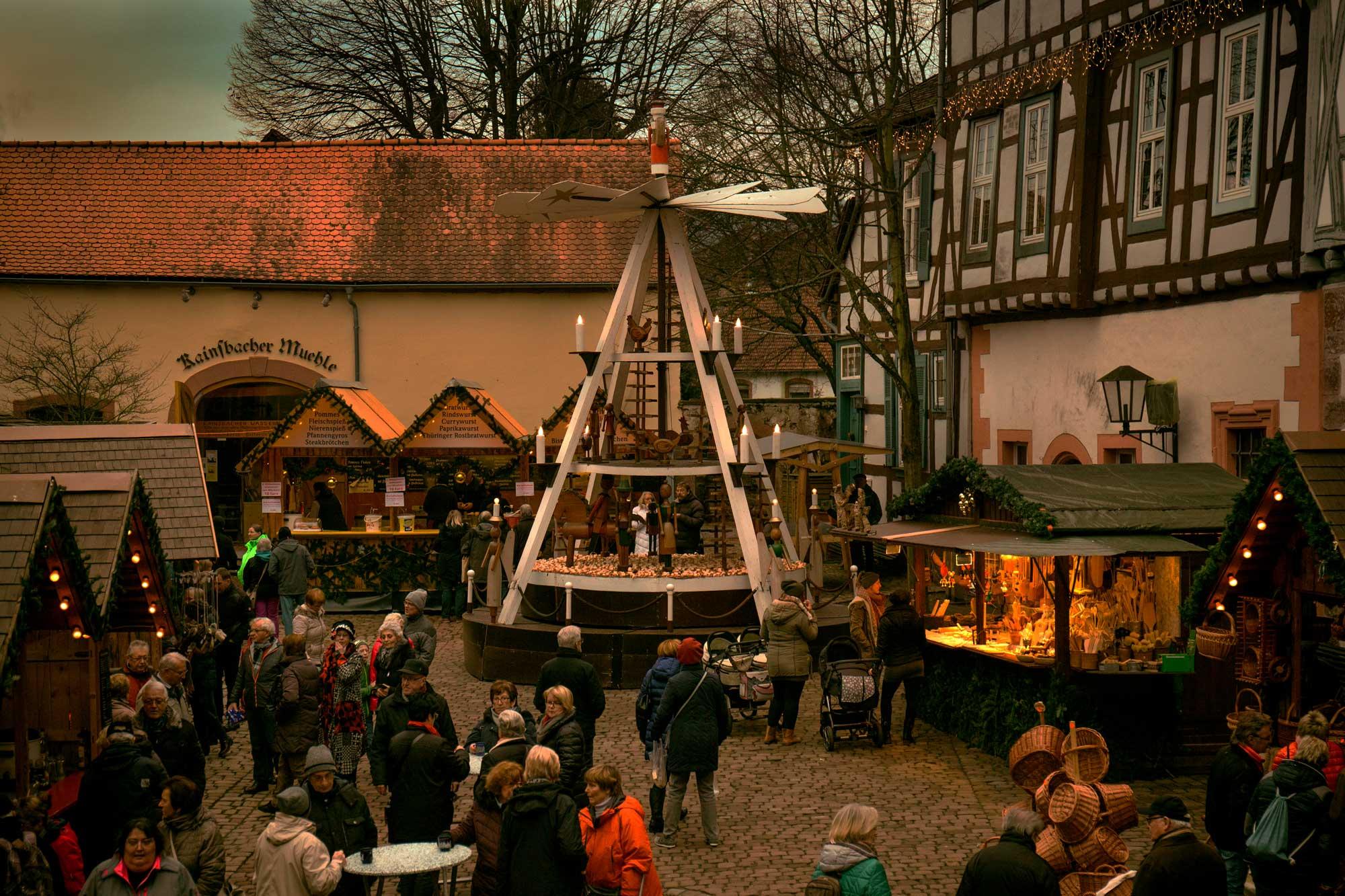 Weihnachtsmarkt in Michelstadt im Odenwald