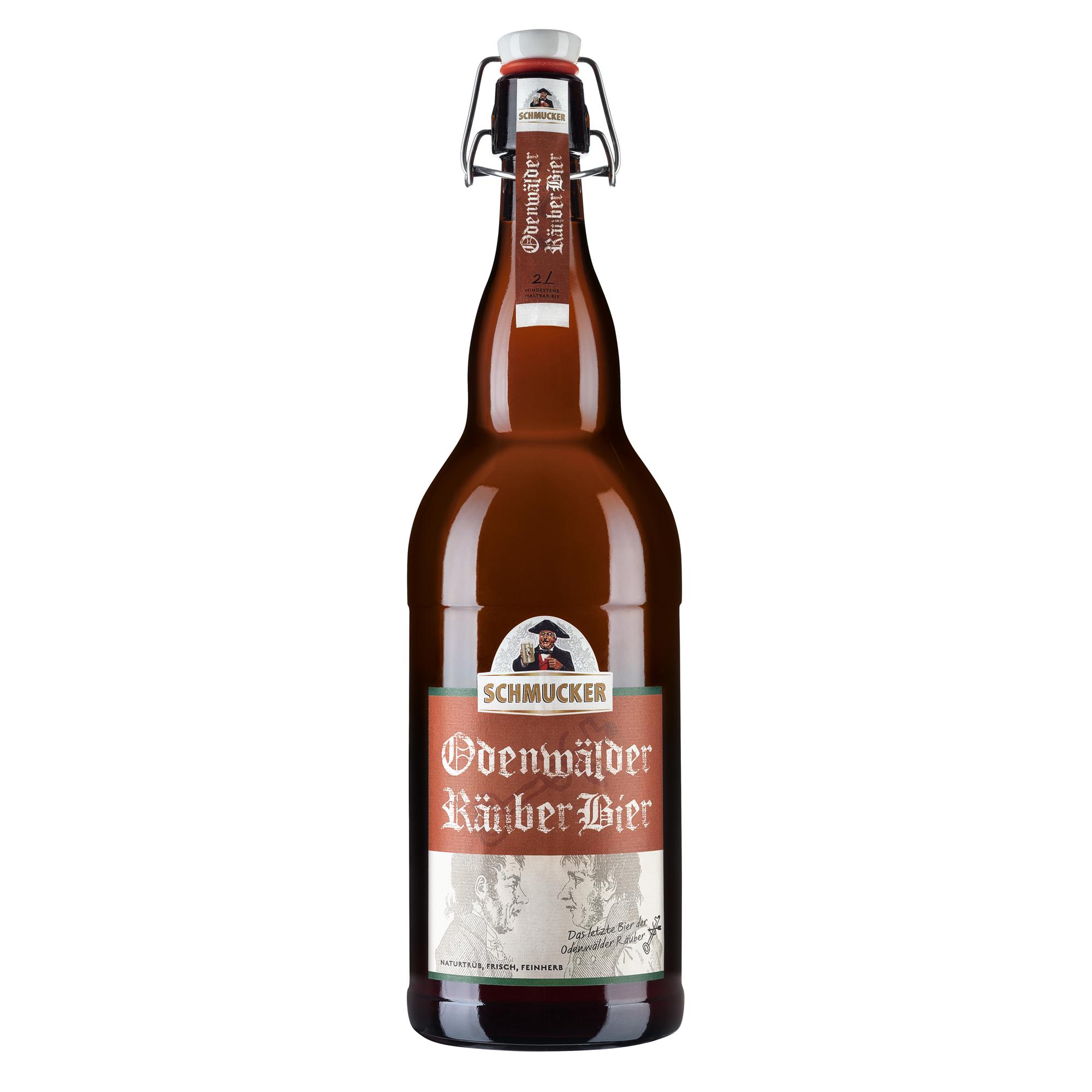 2 Liter Odenwälder Räuber Bier von der Privat-Brauerei Schmucker in Mossautal
