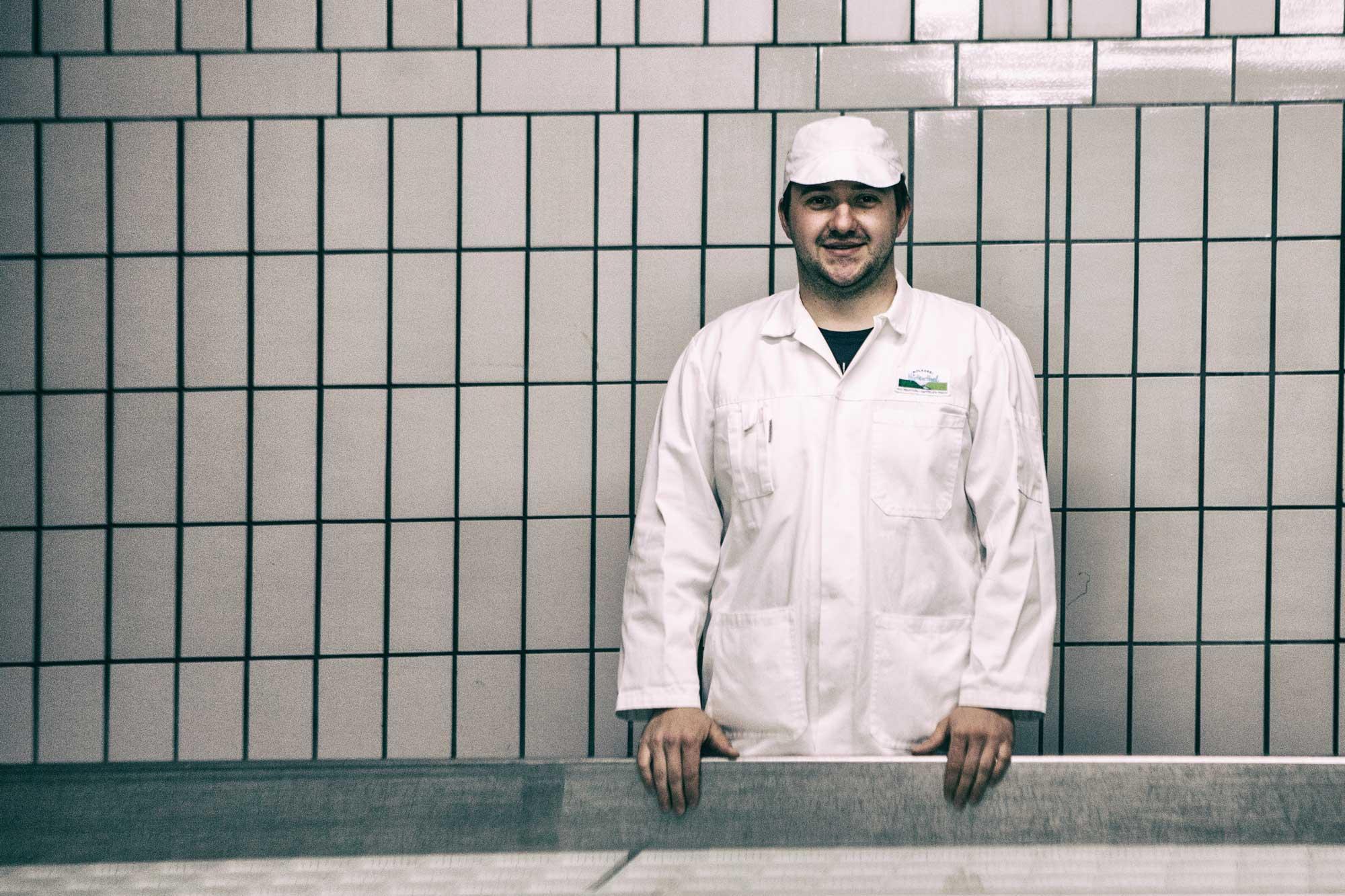 Patrick Hofmann, Betriebsleiter der Molkerei Hüttenthal