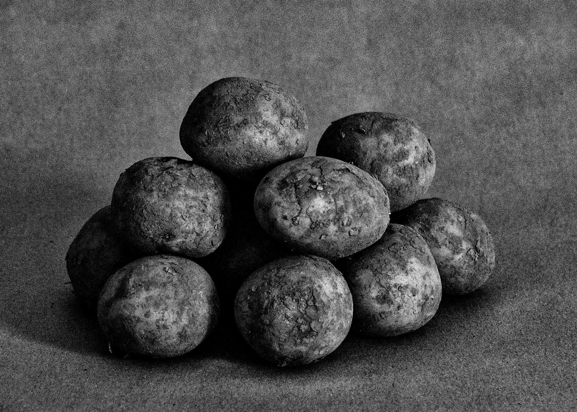 Die Kartoffeln für für unsere Version von Himmel und Erde