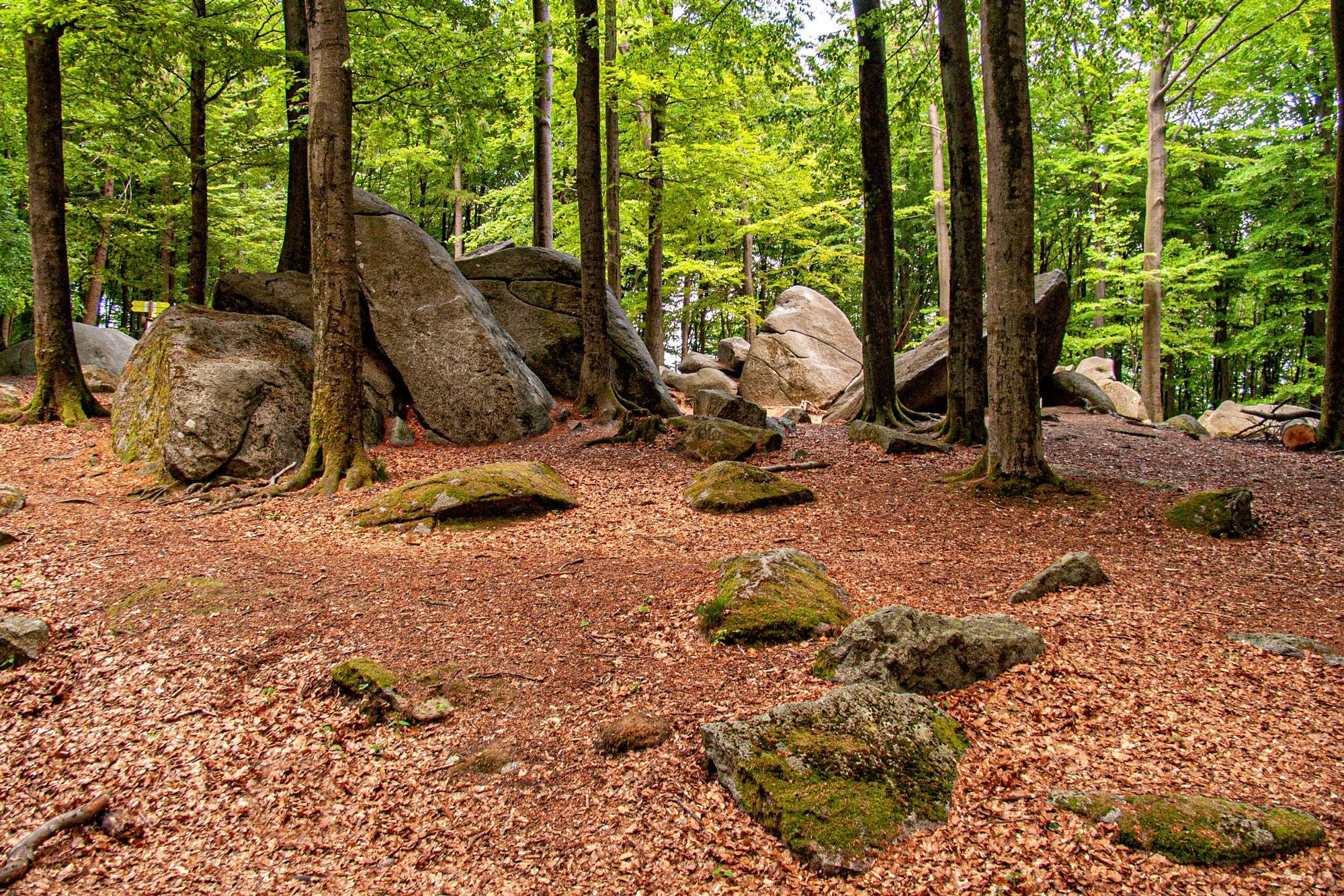 Das Felsenmeer bei Reichenbach im Odenwald, Kreis Bergstraße in Südhessen
