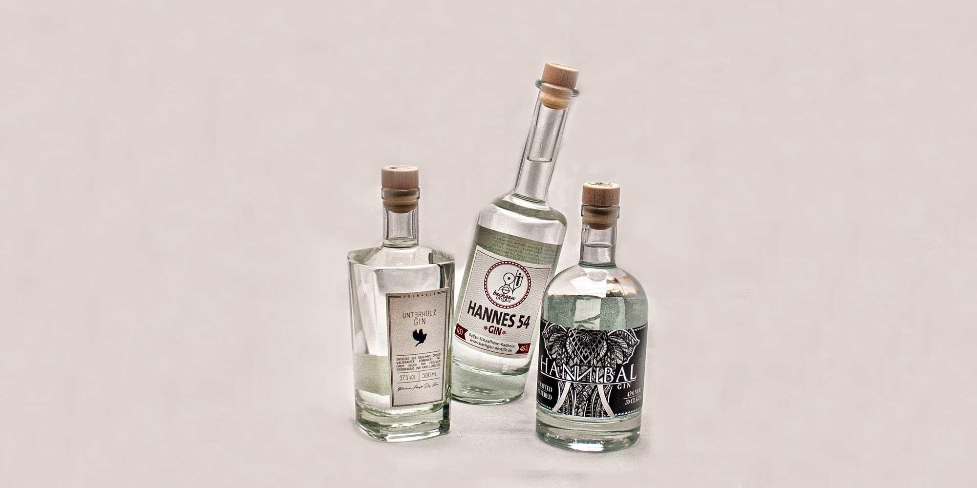 regionale Gin-Marken aus Südhessen: Unterholz , Hannes 54, Hannibal