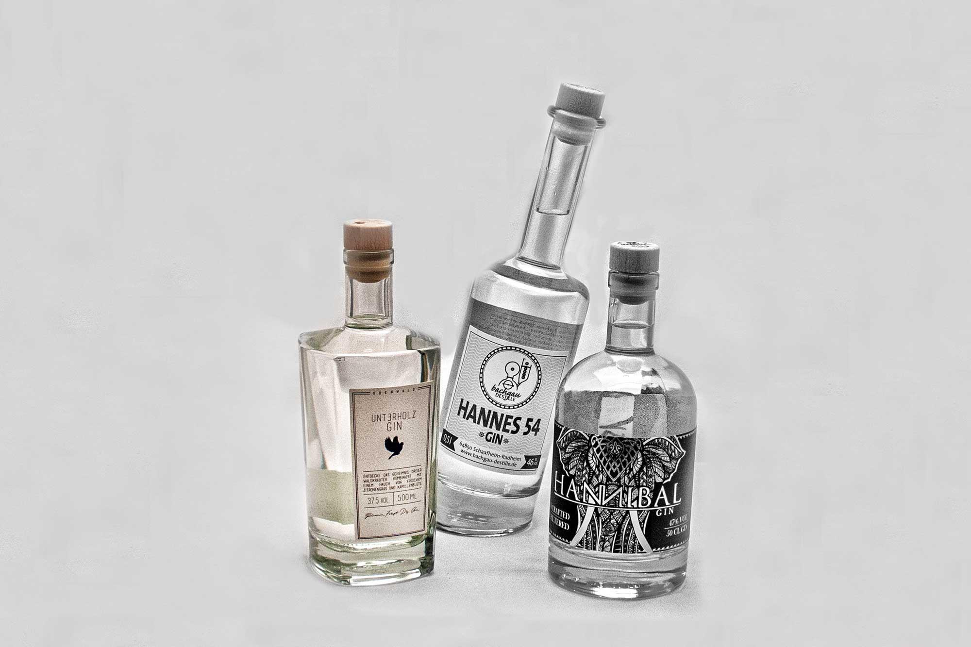Gin-Tasting im Labsal: regionale Gin-Marken aus Südhessen: Unterholz , Hannes 54, Hannibal