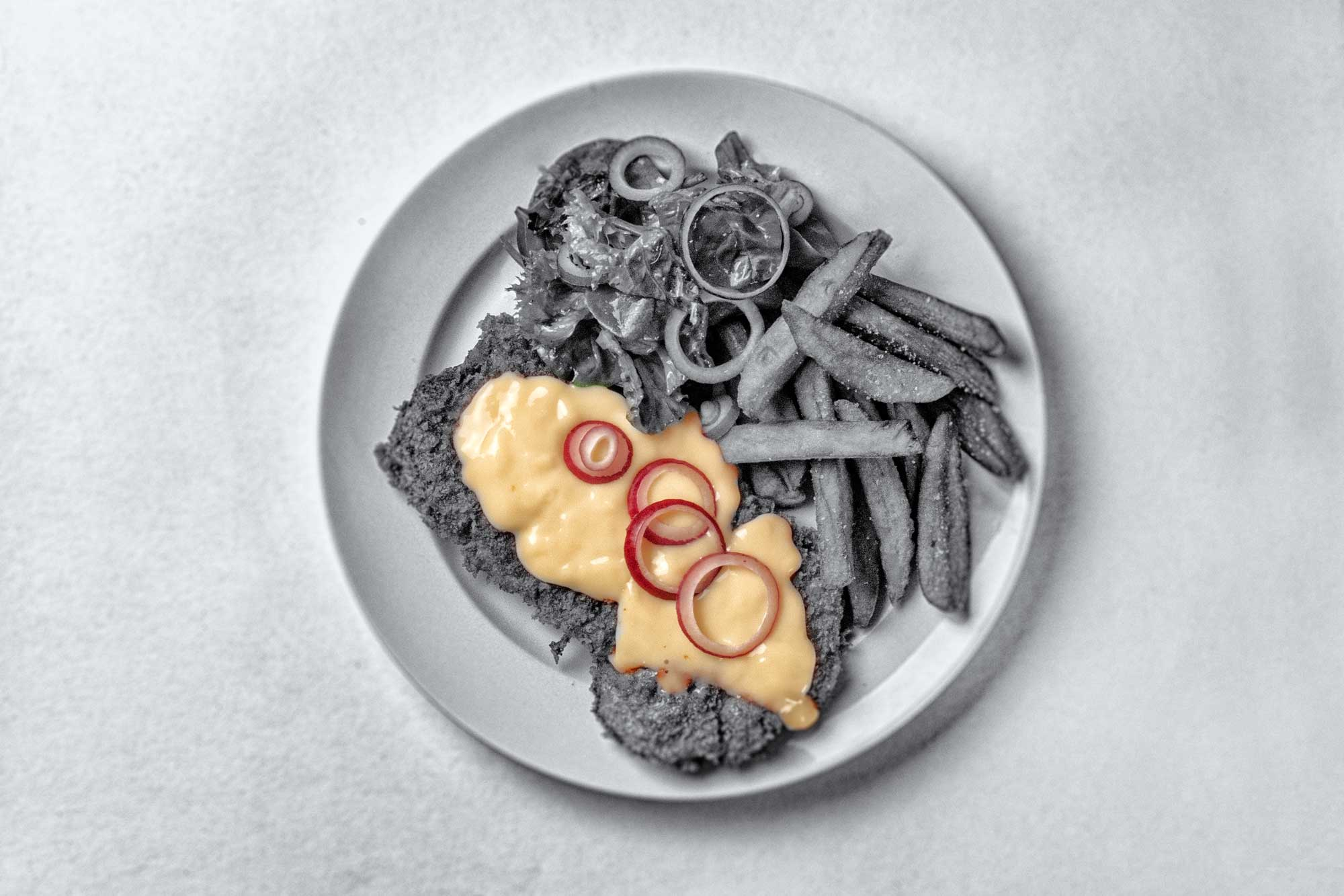 Das Odenwälder Kochkäseschnitzel oder Odenwälder Kochkäs' Schnitzel