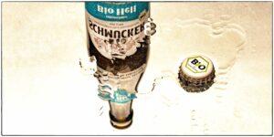 Odenwälder Bio Hell und Odenwälder Bio Landbier von der Privat-Brauerei Schmucker aus Mossautal im Odenwald